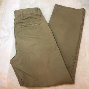 Mens Dockers Size 30x32 Tan Beige Flat Front Pants